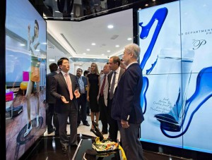 B2B products on display at LG Electronics' Business Innovation Center 1