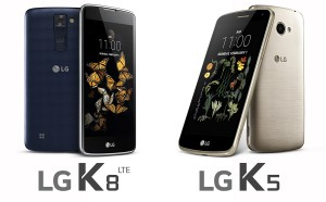 LG K8 LTE and K5